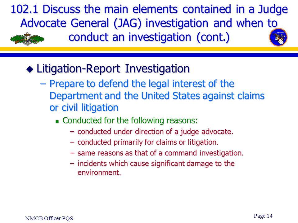 Litigation-Report Investigation