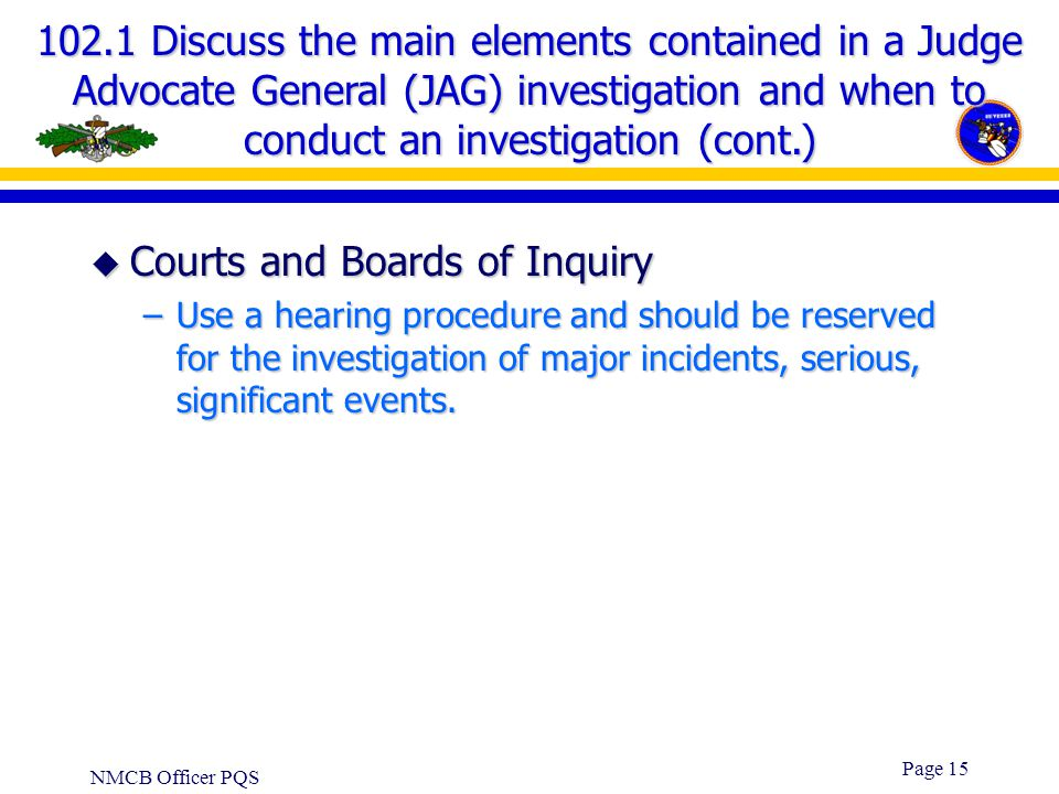 Courts and Boards of Inquiry