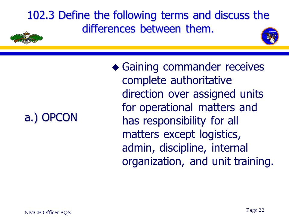 102.3 Define the following terms and discuss the differences between them.