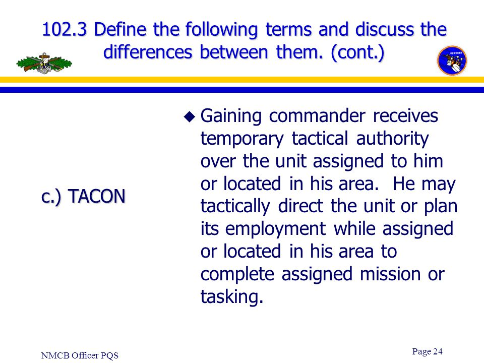 102.3 Define the following terms and discuss the differences between them. (cont.)