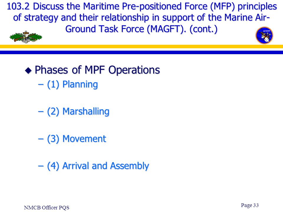 Phases of MPF Operations