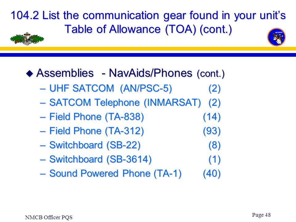Assemblies - NavAids/Phones (cont.)