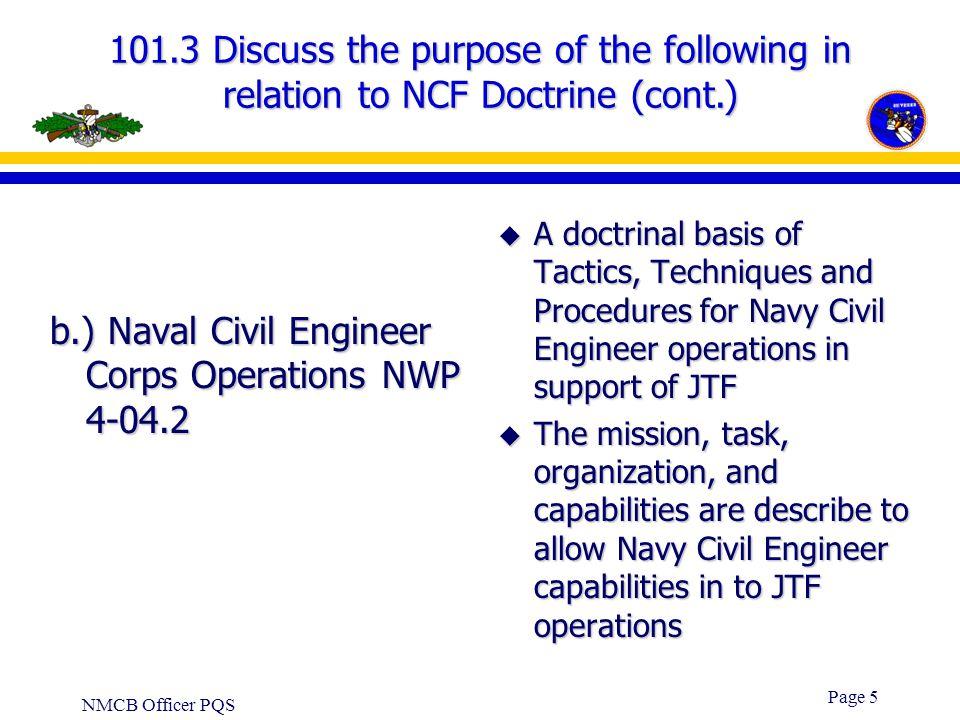 b.) Naval Civil Engineer Corps Operations NWP 4-04.2