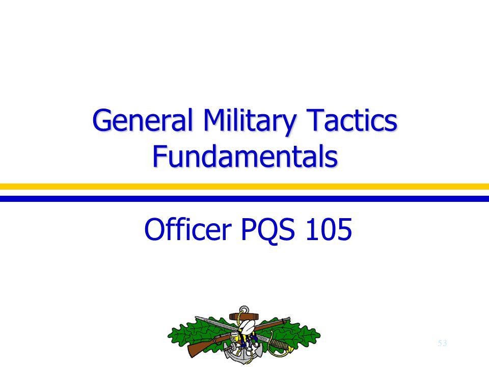 General Military Tactics Fundamentals