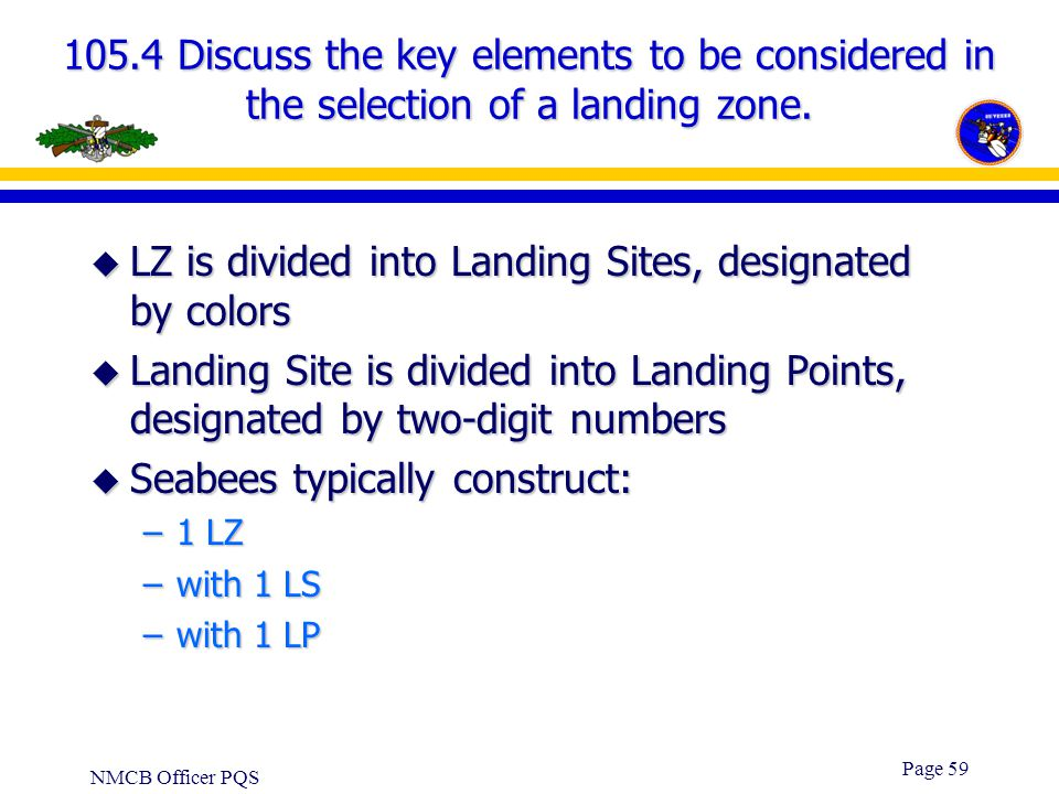 LZ is divided into Landing Sites, designated by colors