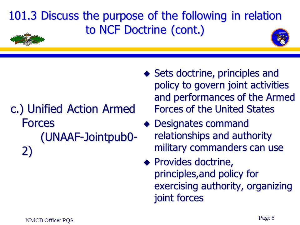 c.) Unified Action Armed Forces (UNAAF-Jointpub0-2)