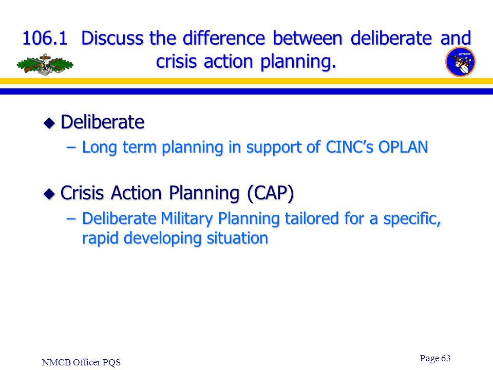Crisis Action Planning (CAP)