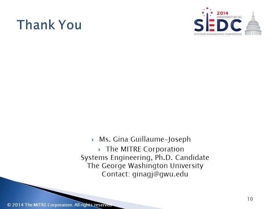 Ms. Gina Guillaume-Joseph
