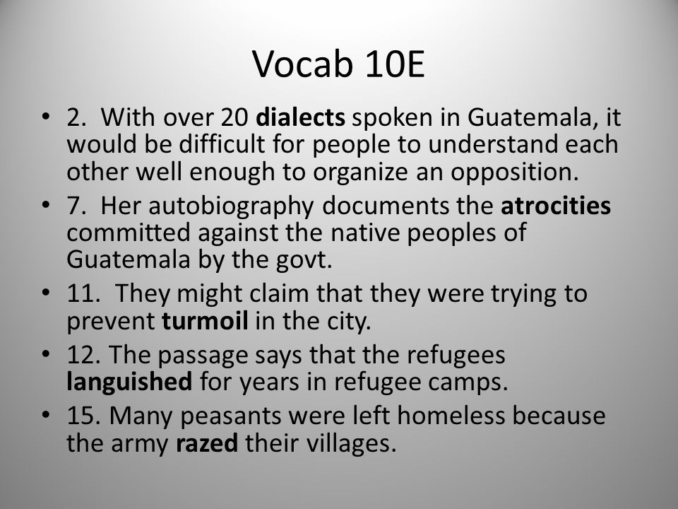 Vocab 10E
