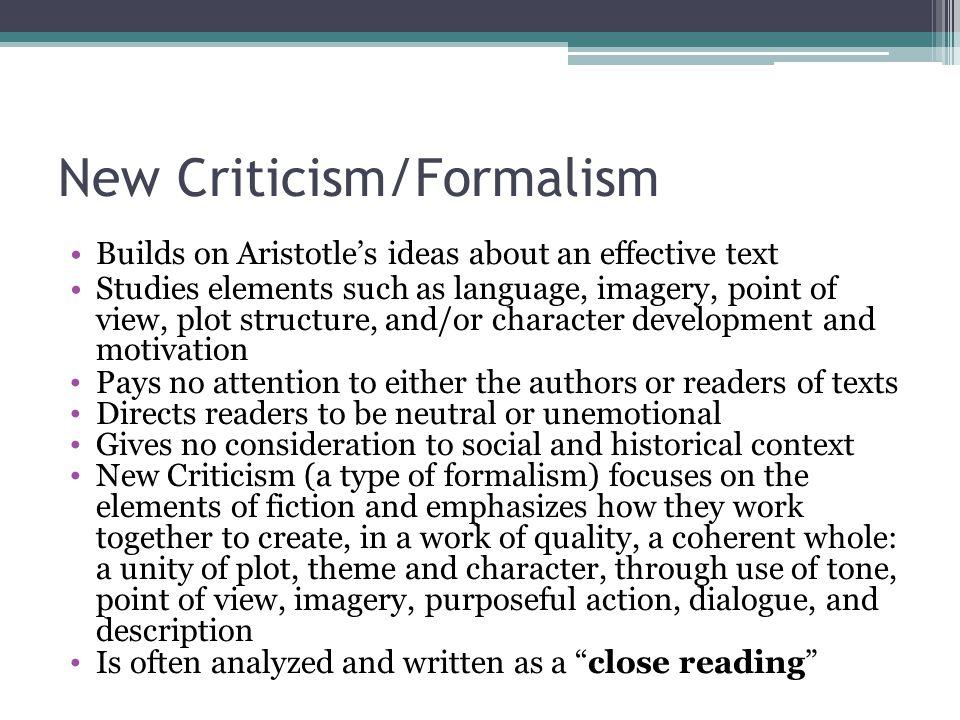 New Criticism/Formalism