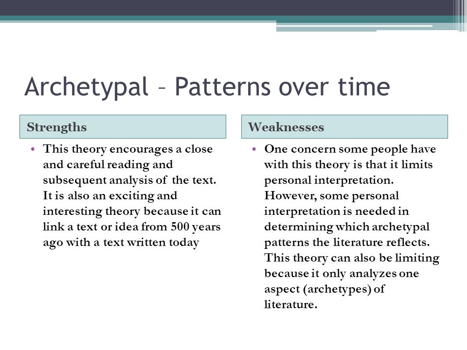 Archetypal – Patterns over time