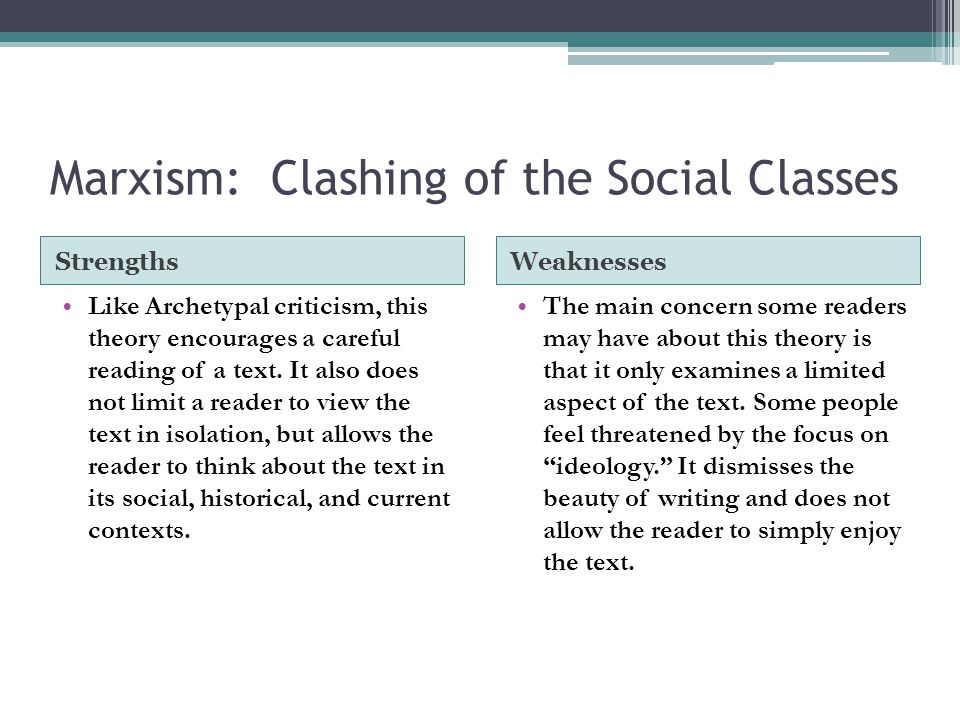 Marxism: Clashing of the Social Classes