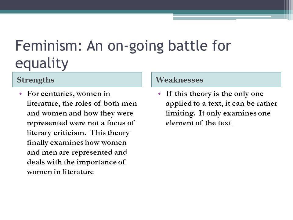 Feminism: An on-going battle for equality