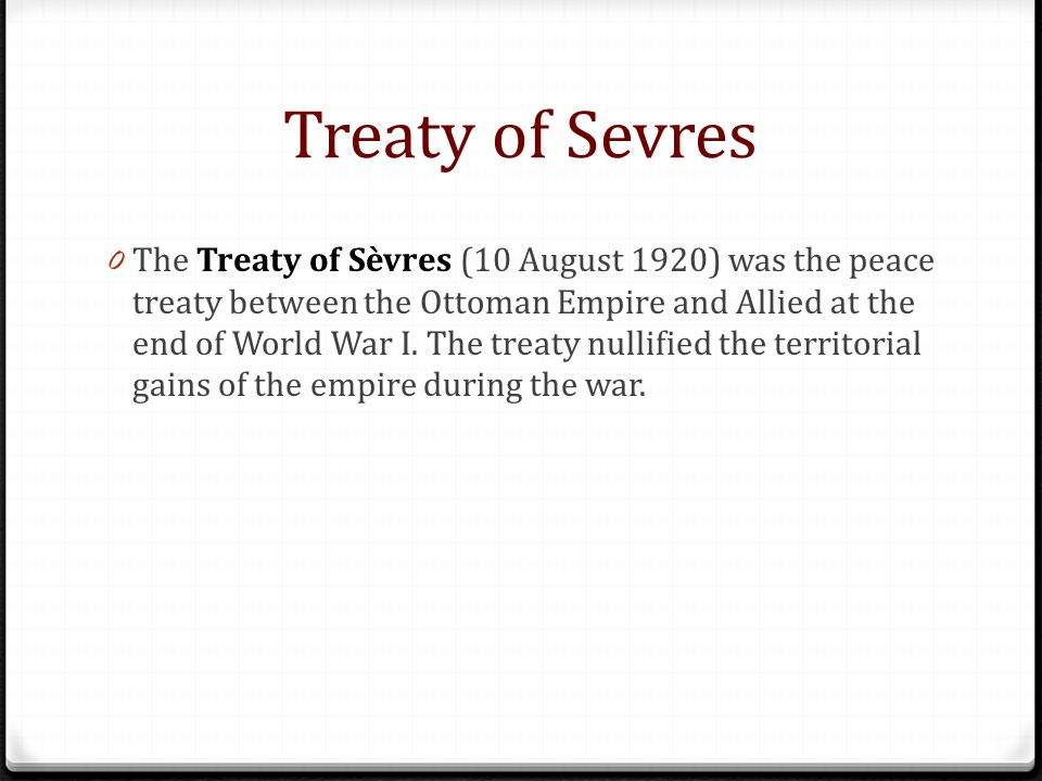 Treaty of Sevres