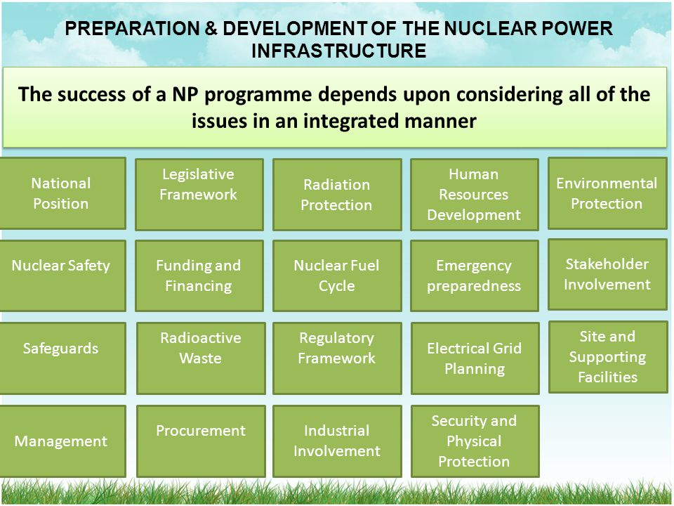 PREPARATION & DEVELOPMENT OF THE NUCLEAR POWER INFRASTRUCTURE