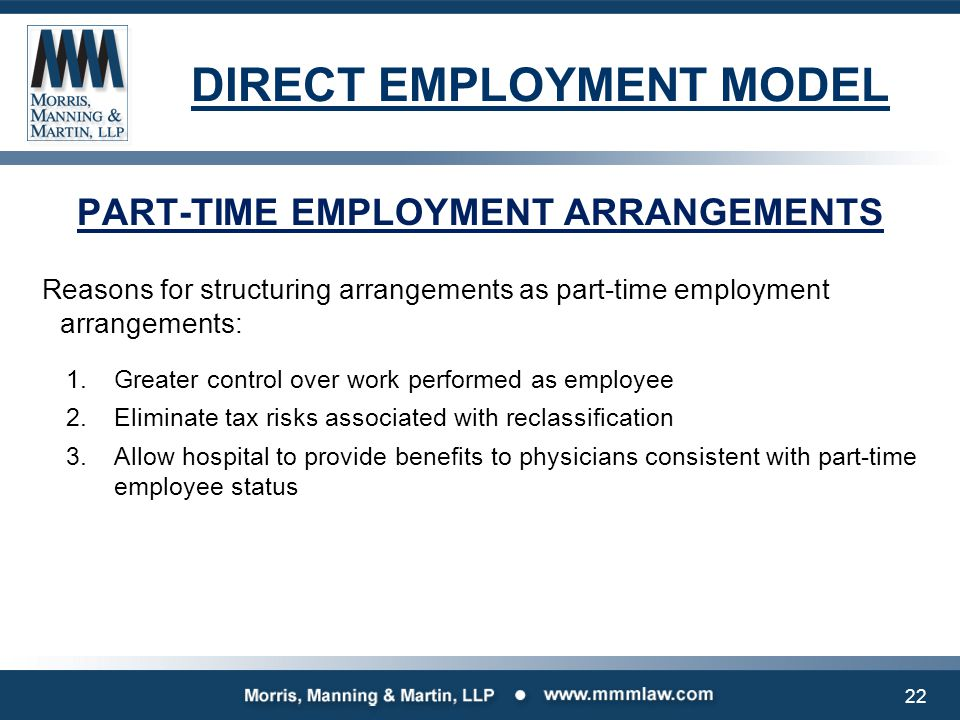 DIRECT EMPLOYMENT MODEL