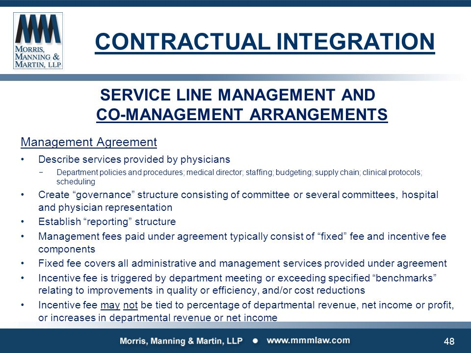 CONTRACTUAL INTEGRATION