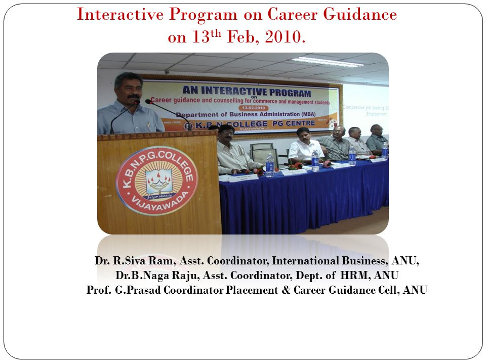 Interactive Program on Career Guidance on 13th Feb, 2010.