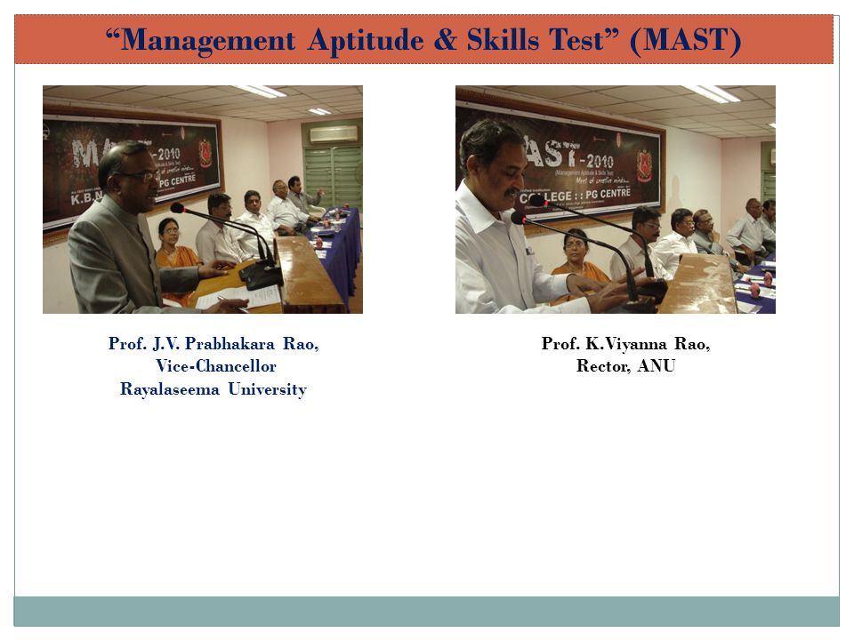 Management Aptitude & Skills Test (MAST) Rayalaseema University