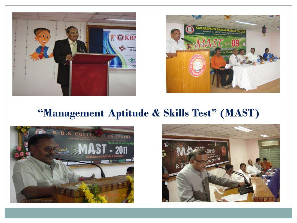 Management Aptitude & Skills Test (MAST)