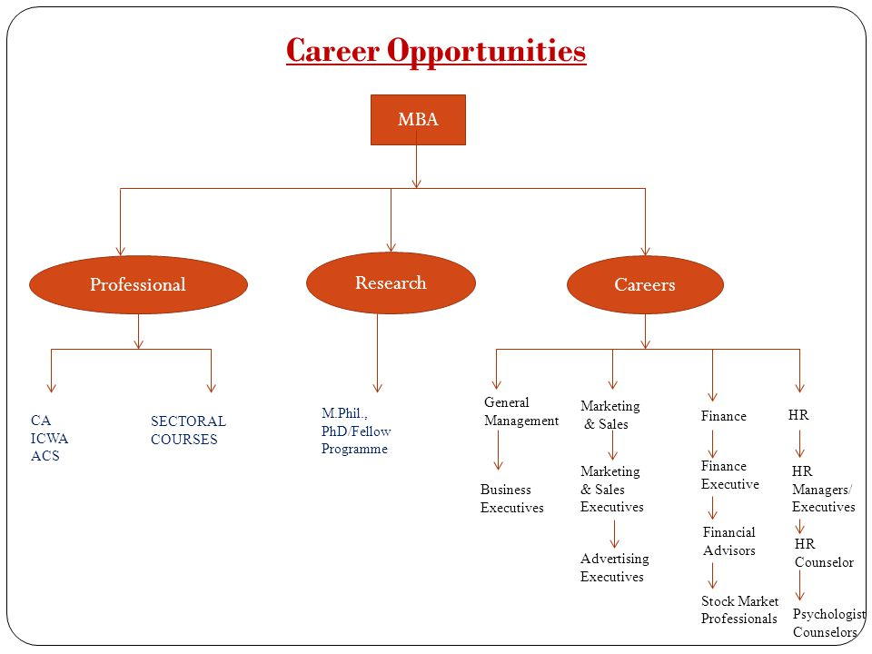 Career Opportunities MBA MBA Professional Research Careers