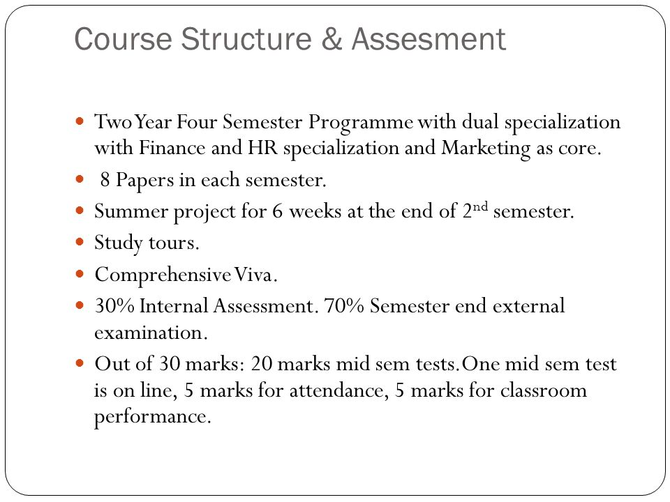 Course Structure & Assesment