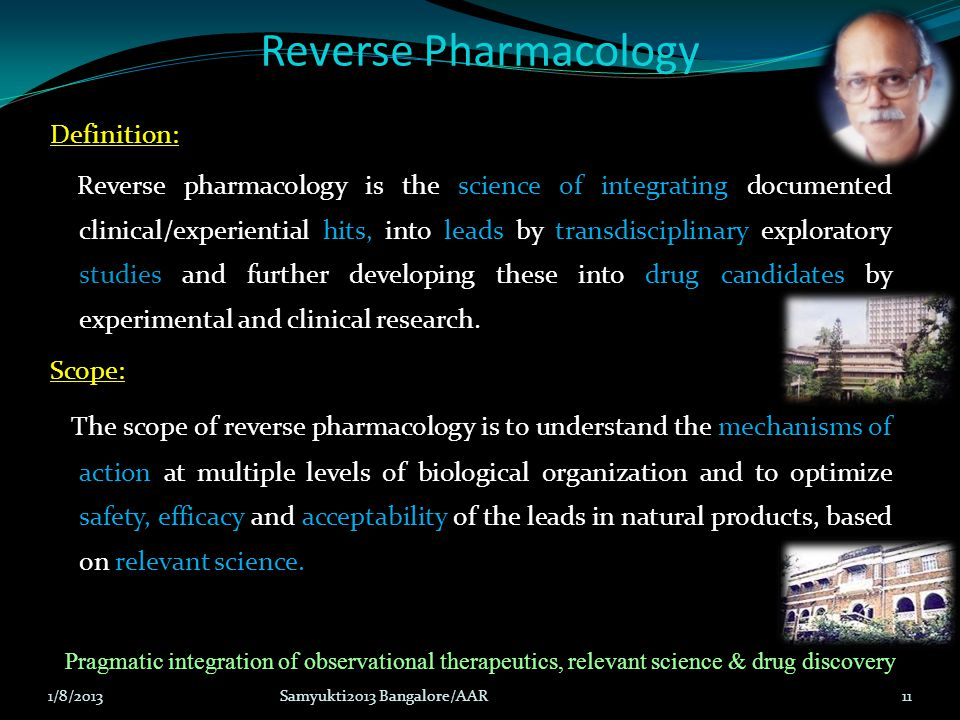 Reverse Pharmacology Definition: