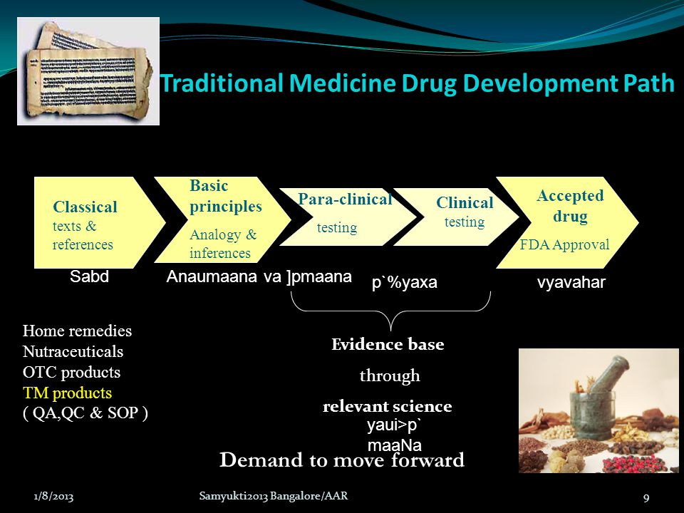 Traditional Medicine Drug Development Path