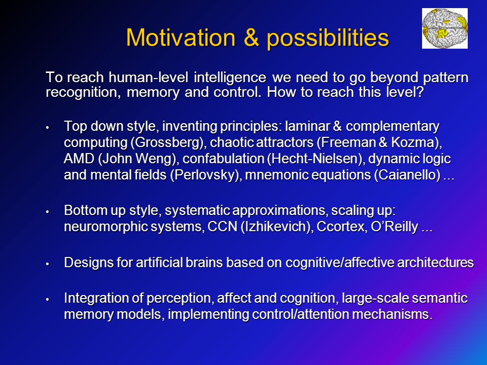 Motivation & possibilities