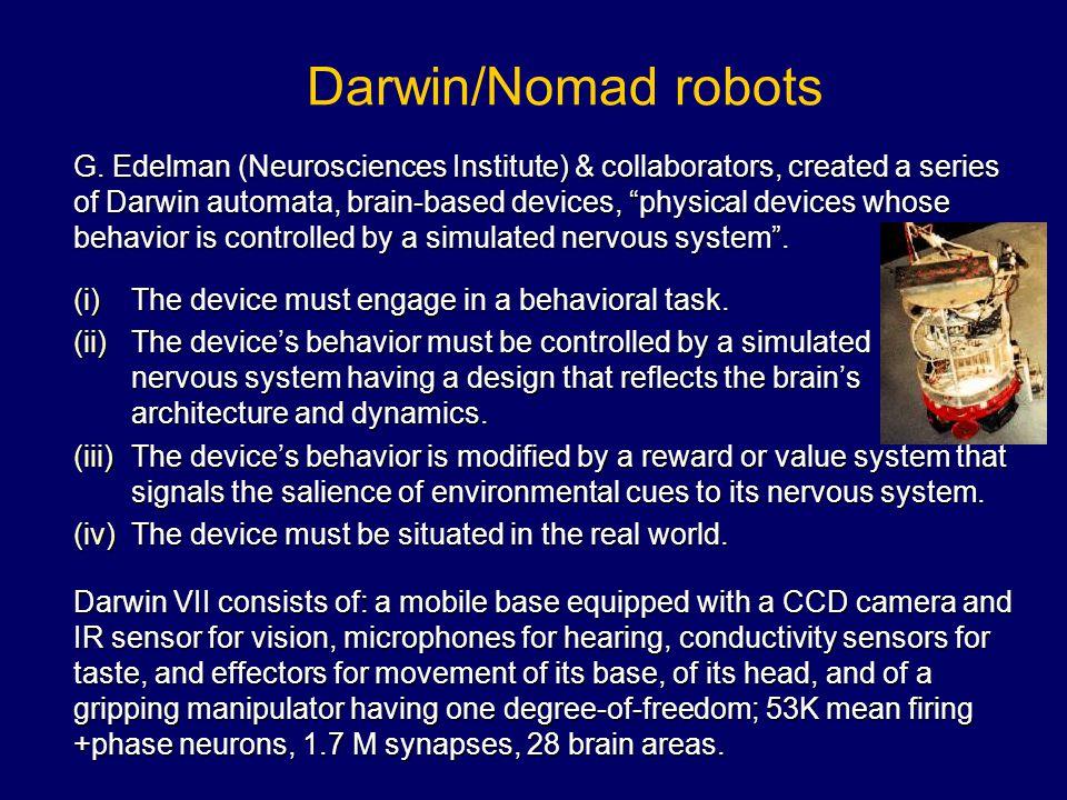 Darwin/Nomad robots