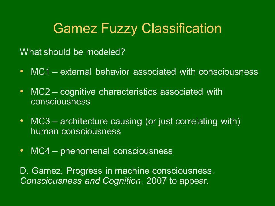 Gamez Fuzzy Classification
