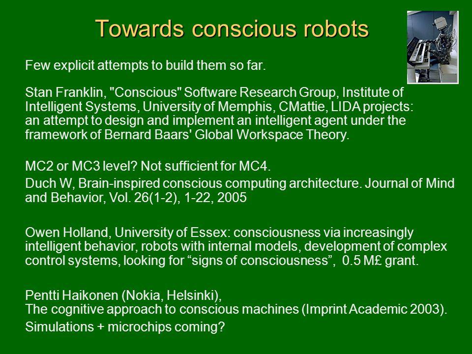 Towards conscious robots