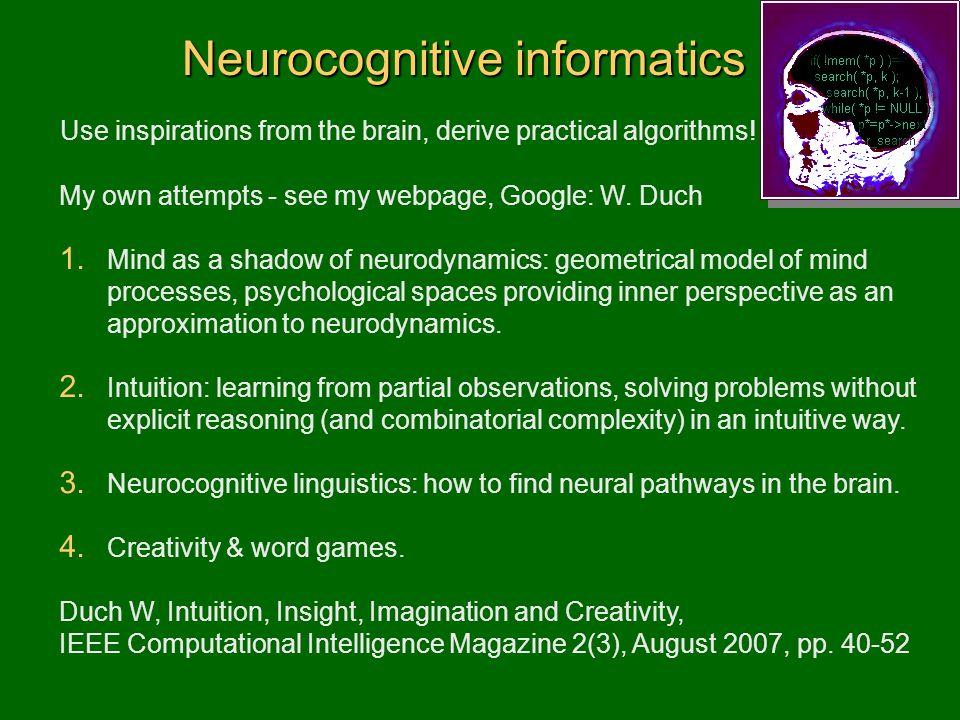 Neurocognitive informatics