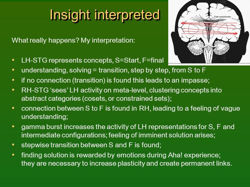 Insight interpreted What really happens My interpretation: