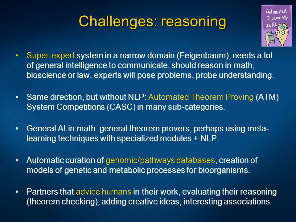 Challenges: reasoning