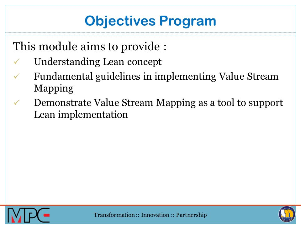 Objectives Program This module aims to provide :
