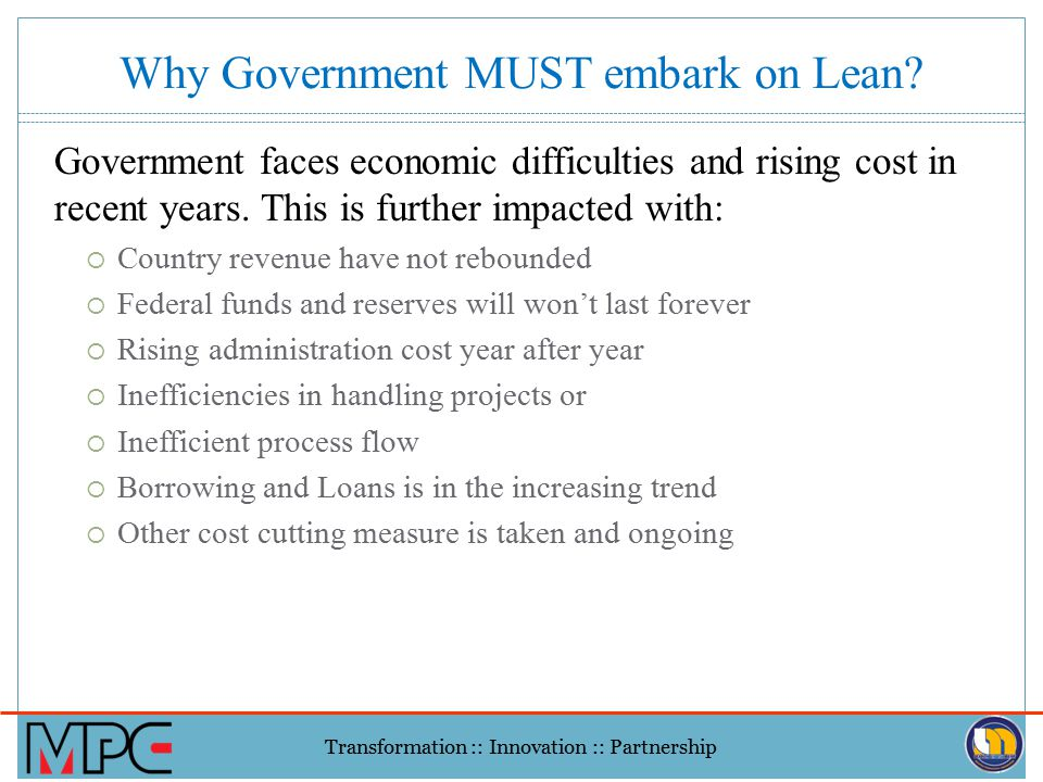 Why Government MUST embark on Lean