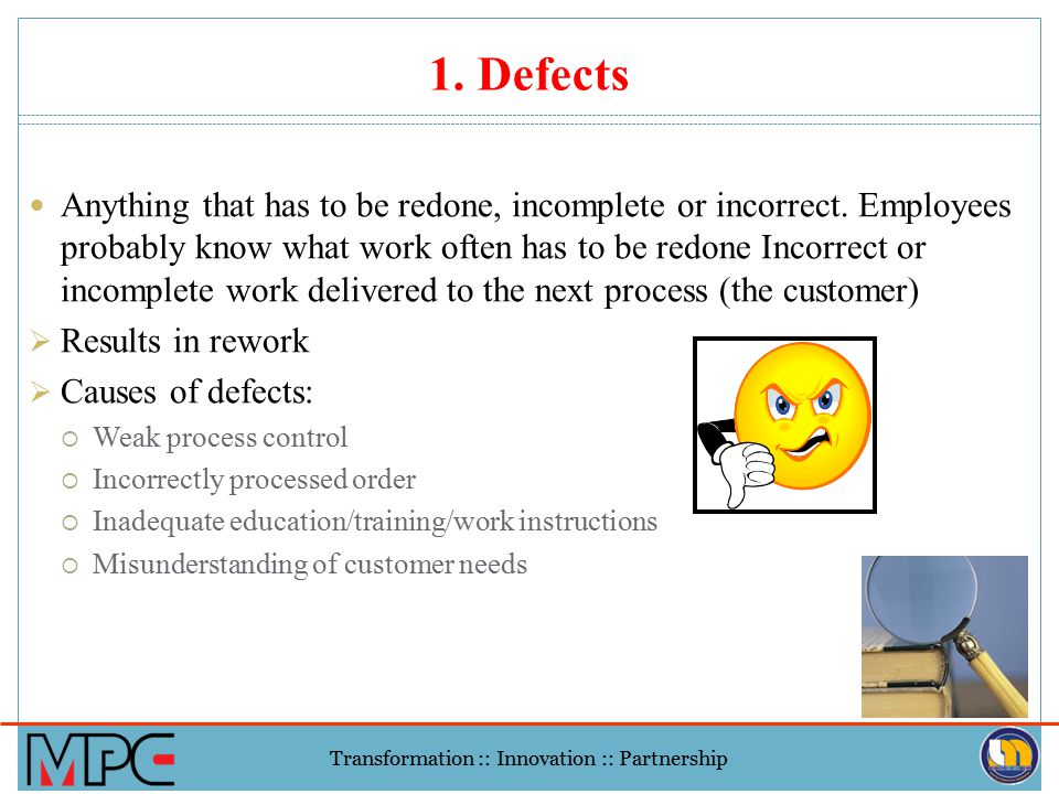 1. Defects