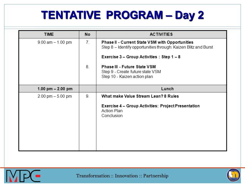 TENTATIVE PROGRAM – Day 2