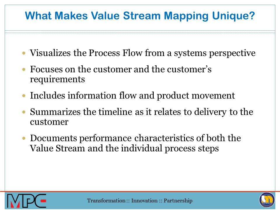 What Makes Value Stream Mapping Unique