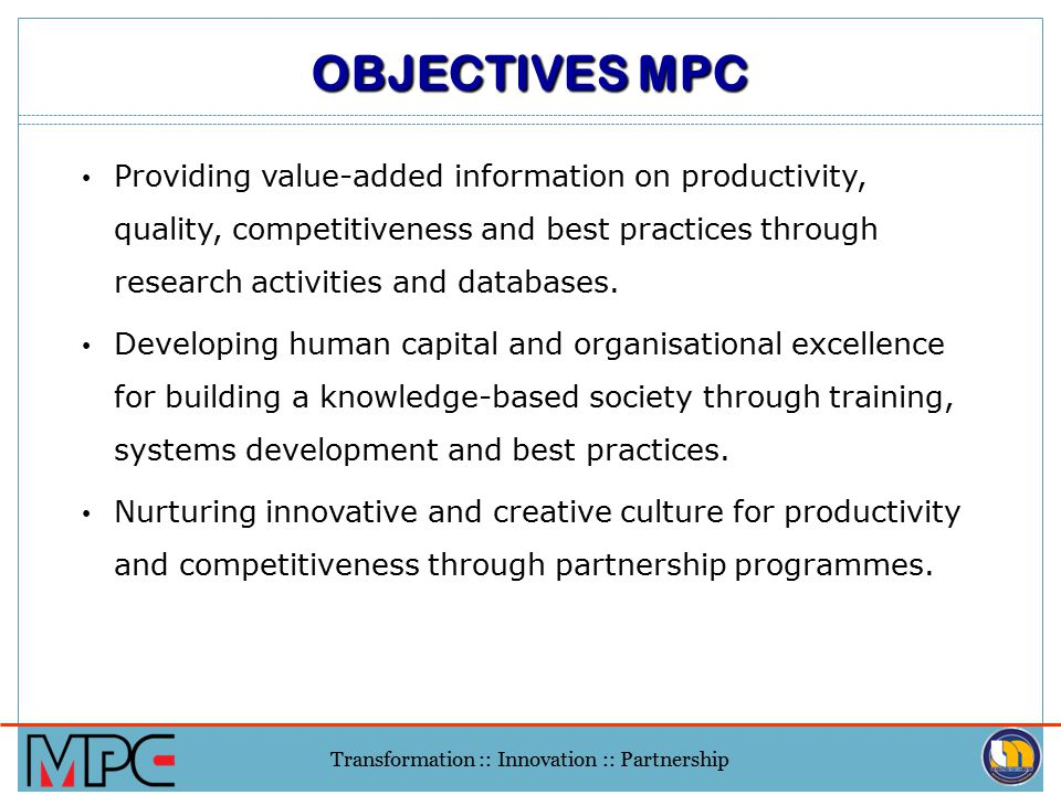 OBJECTIVES MPC