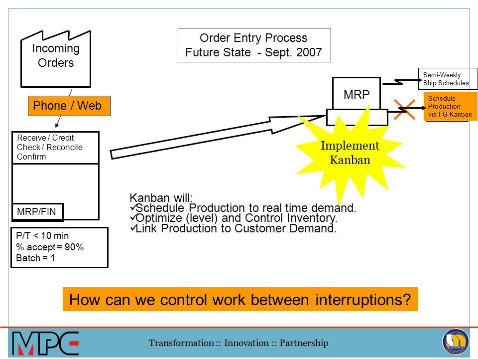 How can we control work between interruptions