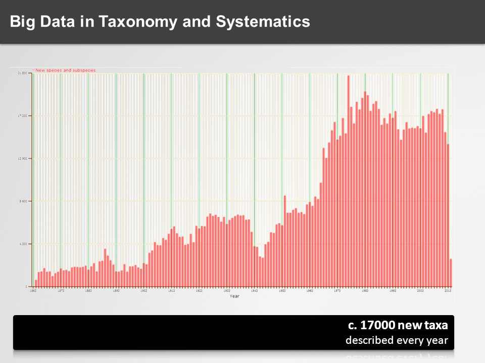 Big Data in Taxonomy and Systematics