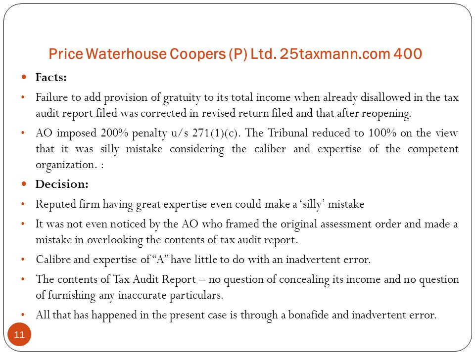 Price Waterhouse Coopers (P) Ltd. 25taxmann.com 400
