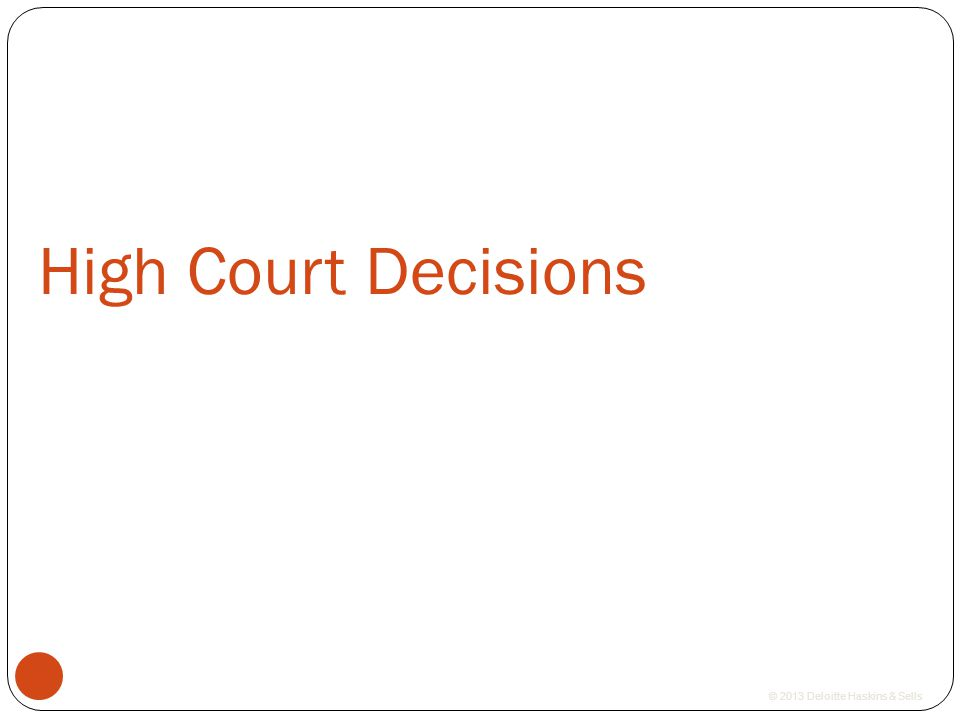High Court Decisions