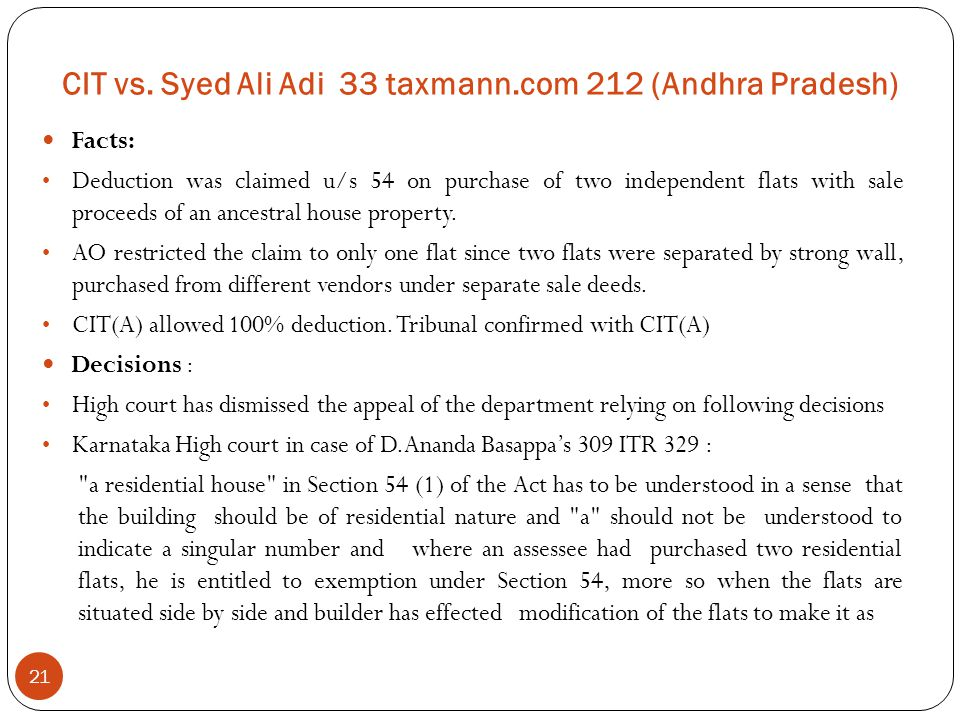 CIT vs. Syed Ali Adi 33 taxmann.com 212 (Andhra Pradesh)