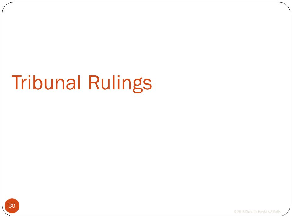 Tribunal Rulings