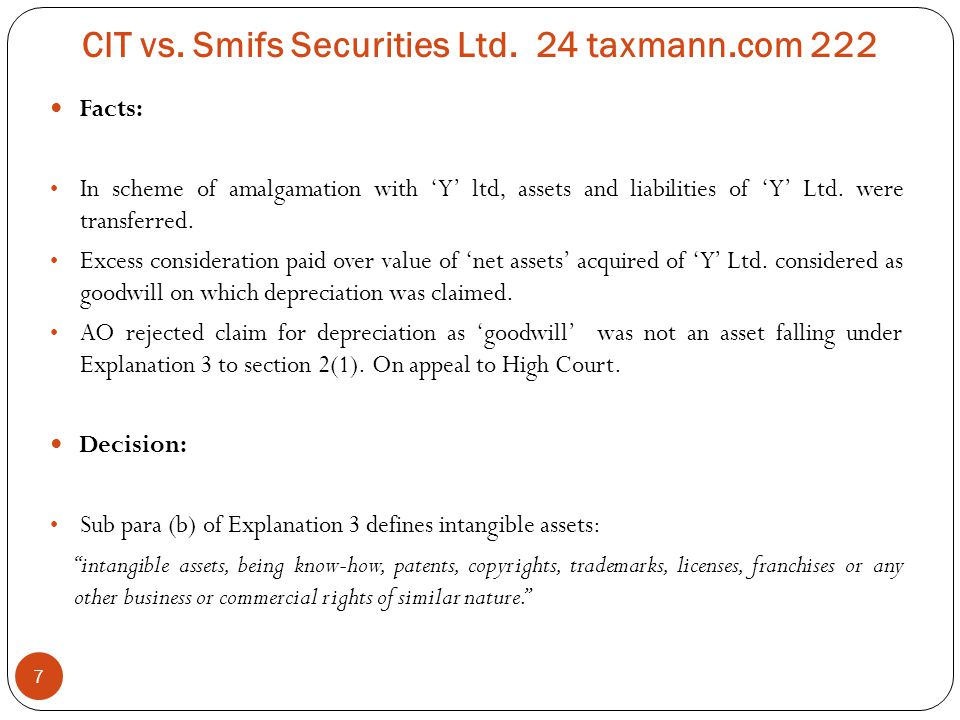 CIT vs. Smifs Securities Ltd. 24 taxmann.com 222