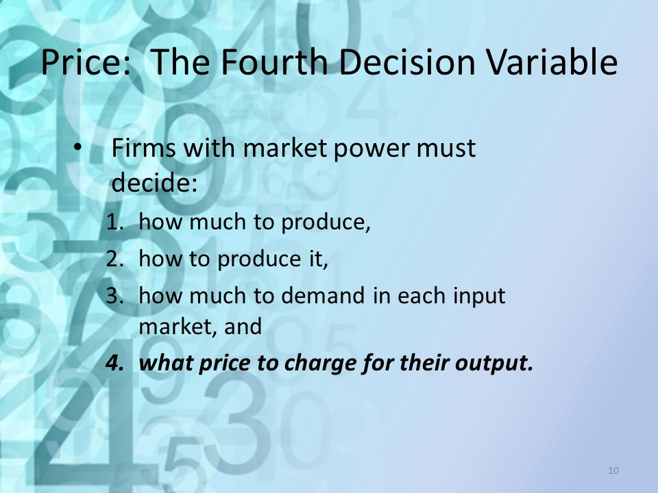 Price: The Fourth Decision Variable