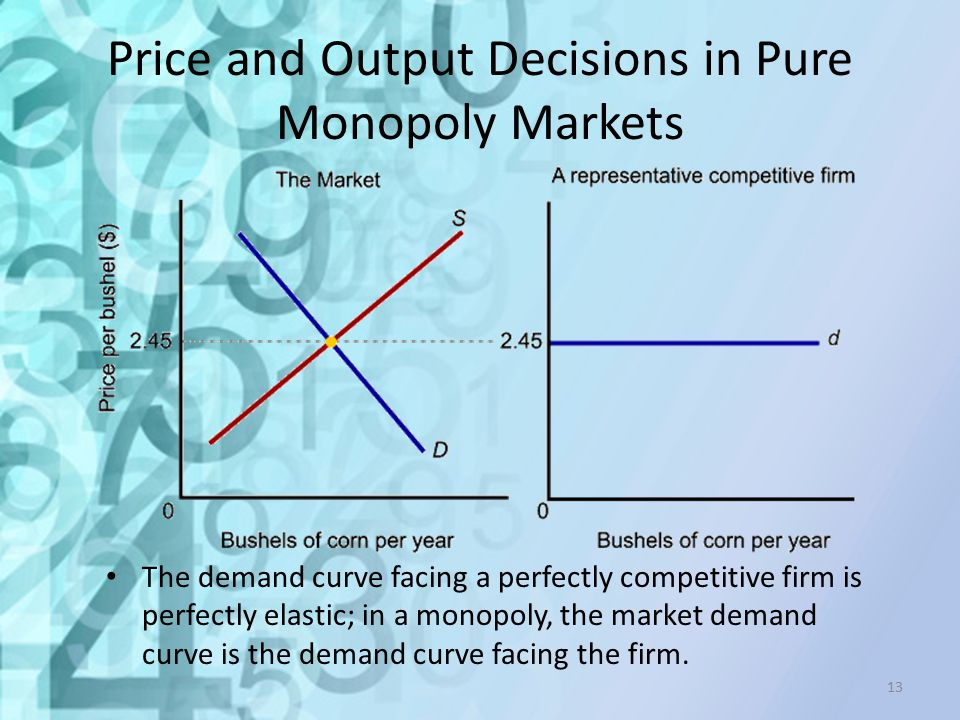 Price and Output Decisions in Pure Monopoly Markets